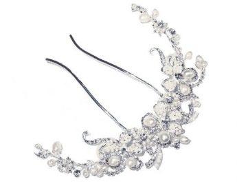 Silver Pearl Comb
